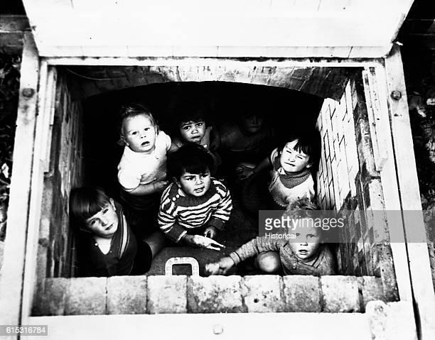 London Children in Bomb Shelter