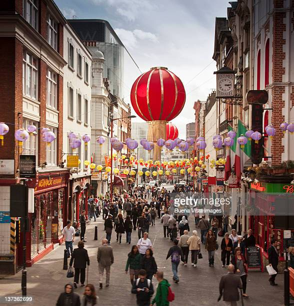london, chinatown. - chinatown stock photos and pictures