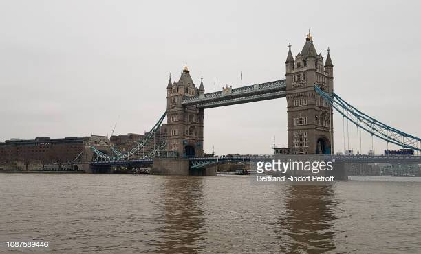 London Christmas Animations Illustration view of the Tower Bridge in London United Kingdom