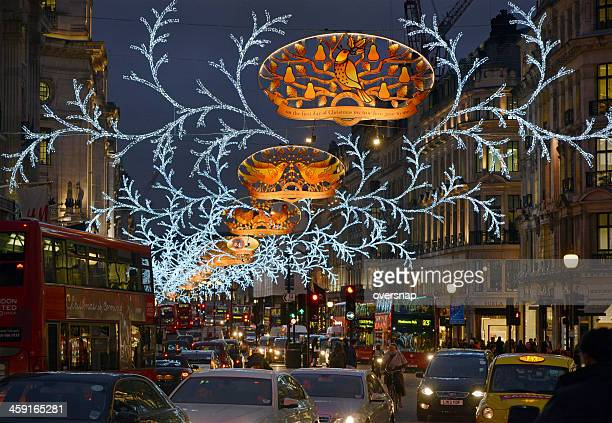 london christmas lights - the twelve days of christmas stock pictures, royalty-free photos & images