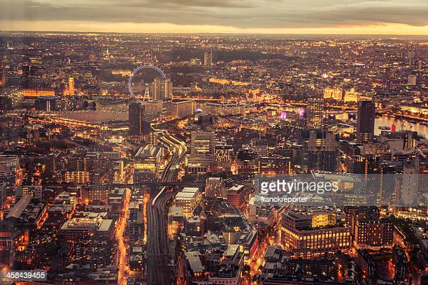 London city aerial view
