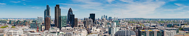 London City Financial District Skyscrapers Panorama Wall Art