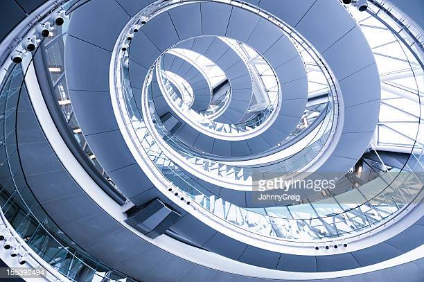 Spiral staircase stock photos and pictures getty images for Square spiral staircase plans hall