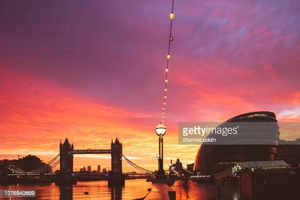 london city landmark at sunrise - sunrise dawn stock pictures, royalty-free photos & images