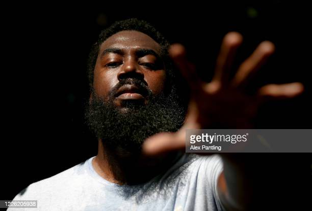 London City Royals and Team England Basketball Player Orlan Jackman Trains during the Coronavirus Pandemic at Churchfields Recreation Ground on May...