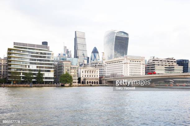 London city skyline and Blackfriars Bridge