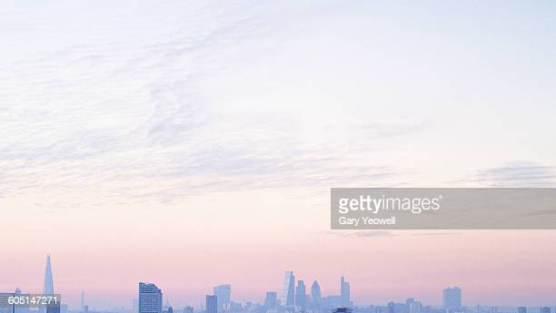london city skyline at sunset - 2010 stock pictures, royalty-free photos & images