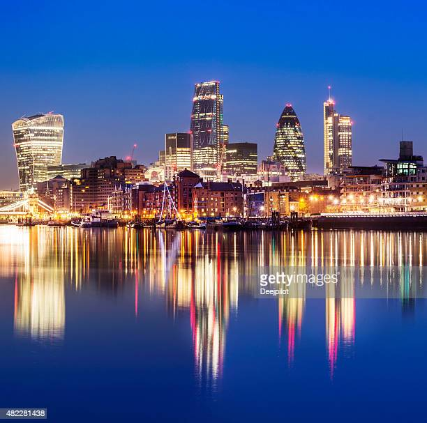 London City Skyline at Twilight UK
