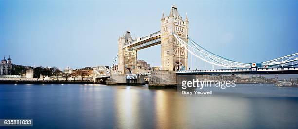 London City skyline by Tower Bridge