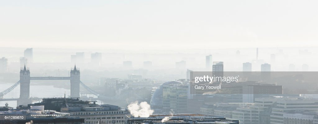 London city skyline by Tower Bridge : Stock Photo