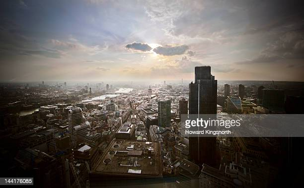 London City skyline looking West
