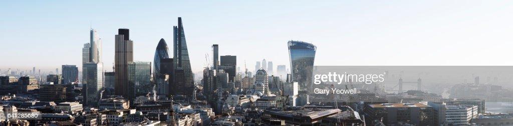 London city skyline panorama : Stock Photo