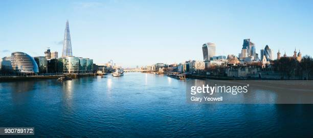 london city skyline - river thames stock pictures, royalty-free photos & images
