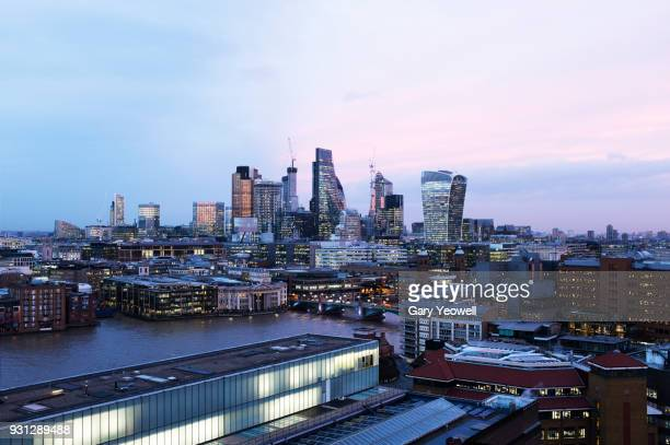 london city skyline - yeowell stock pictures, royalty-free photos & images