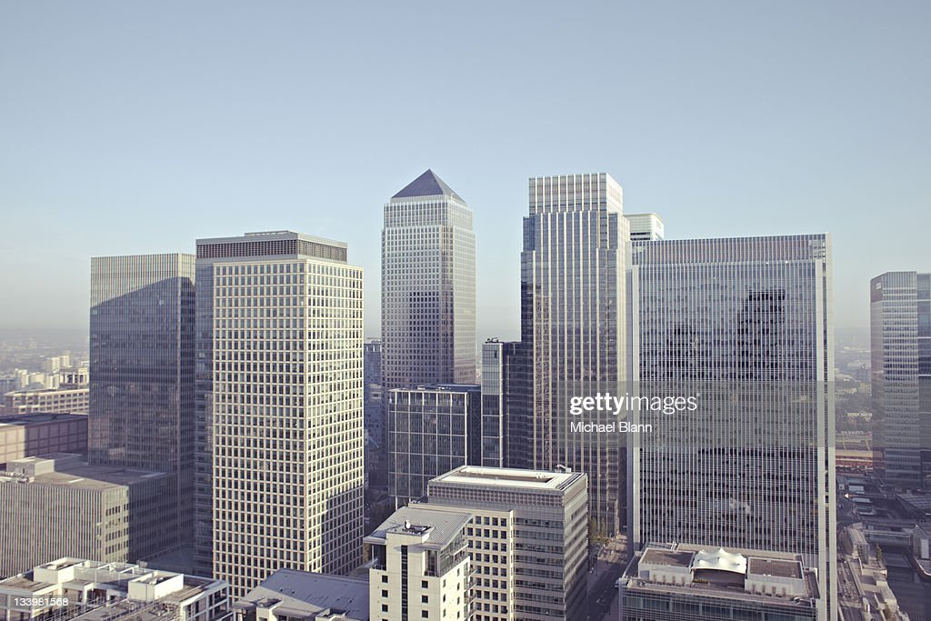 London City View including Canary Wharf : Stockfoto