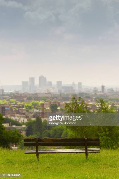 london city view - hampstead heath stock pictures, royalty-free photos & images