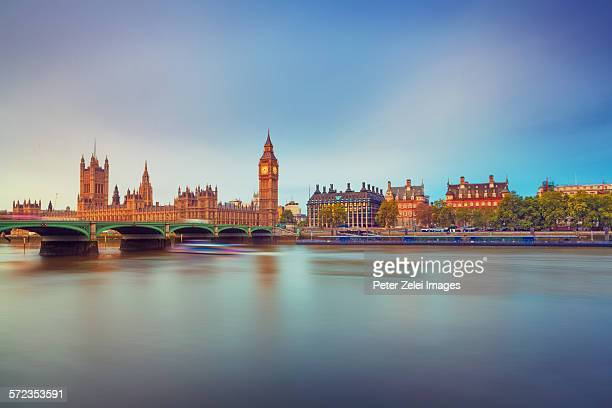 London cityscape at sunrise