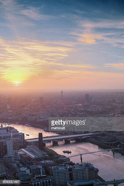 uk, london, cityscape during sunset - mattscutt stock pictures, royalty-free photos & images