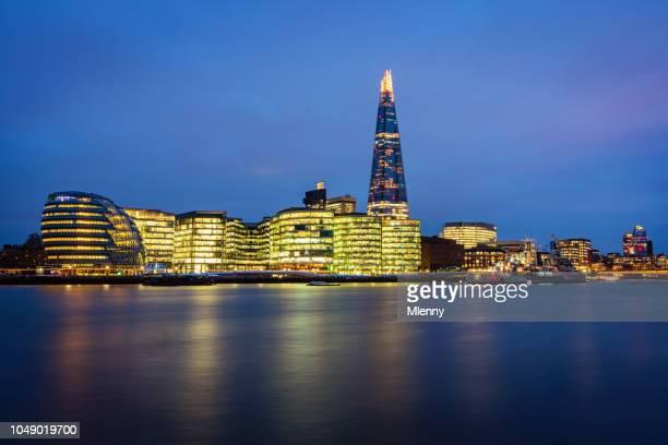 London Cityscape River Thames at Twilight UK