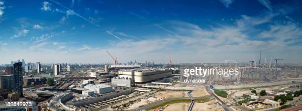 London cityscape, urban regeneration area, 2012 sporting event