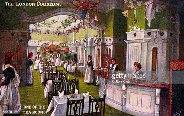 London Coliseum Tea Room Largest theatre in London home to ENO Designed by Frank Matcham in 1904 Waitresses