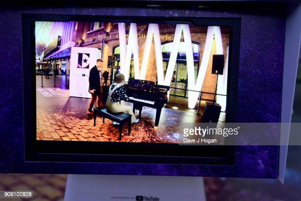 London commuters transported back to 1970's LA with the Elton John augmented reality experience supported by YouTube at Kings Cross Station on...