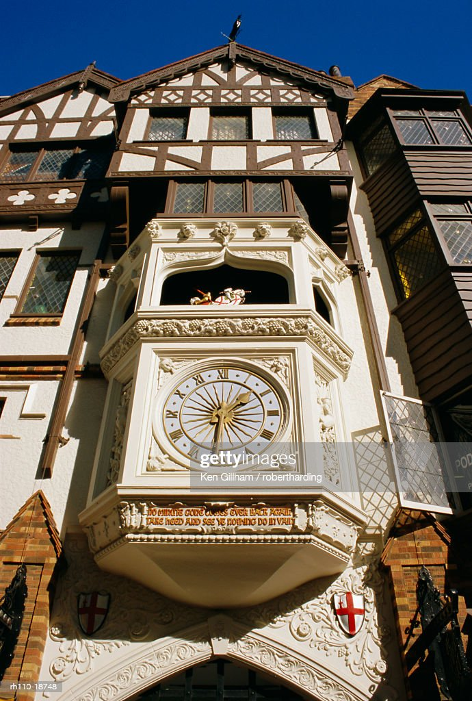 London Court clock, a popular meeting point, Perth, Western Australia, Australia, Pacific : Foto de stock