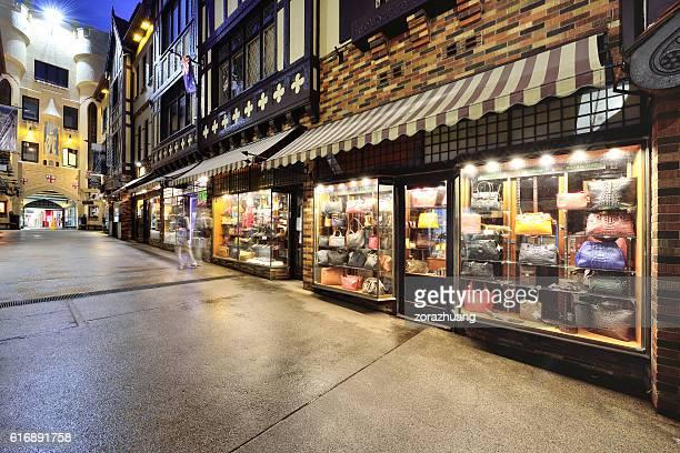 London Court Shopping Arcade at Night