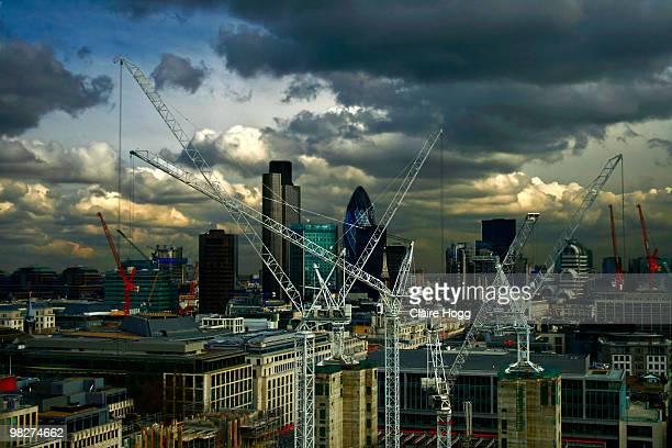 London Cranes Scape
