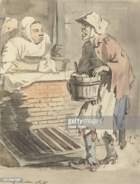 'Any Kitchen Stuff', Paul Sandby RA, 1731–1809, British, ca. 1759, Watercolor and black chalk and graphite on medium, cream, slightly textured laid...