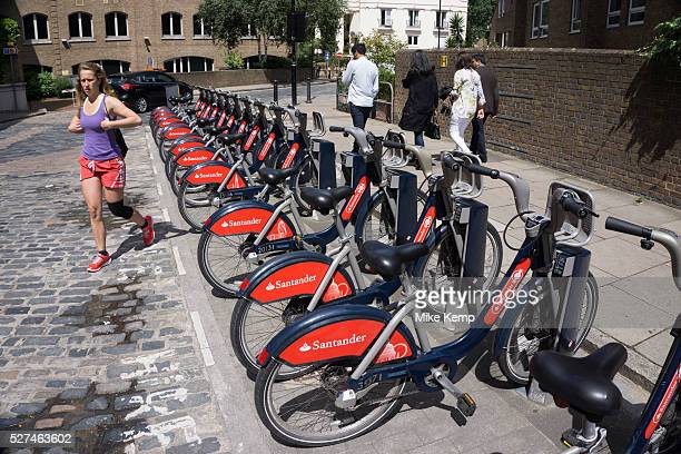 London Cycle Hire bicycles at a docking station The scheme sponsored by Santander is intended to get Londoners cycling As part of a major initiative...