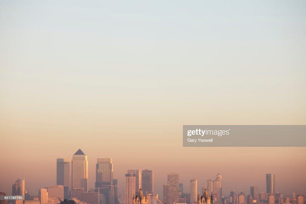 London docklands skyline : Bildbanksbilder