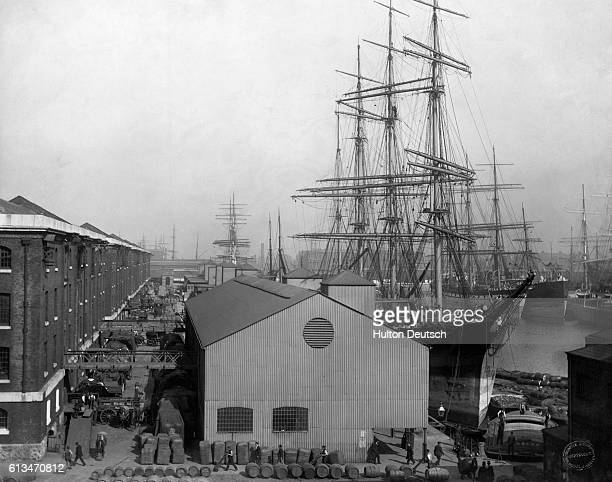 London Docks, ca. 1893.