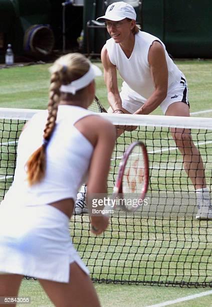 WIMBLEDON 2002 London Doppel/Frauen Anna KOURNIKOVA/RUS Martina NAVRATILOVA/USA