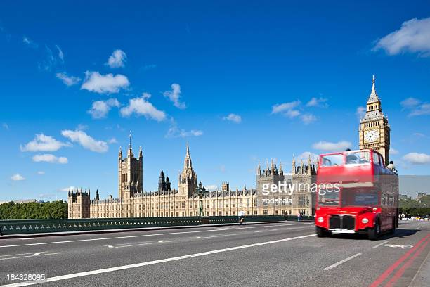 London Double Decker Red Bus and Big Ben