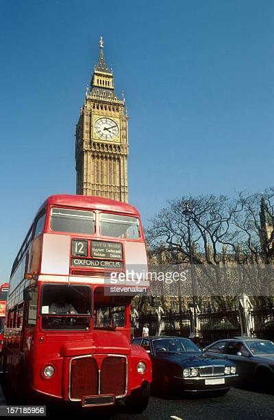 米国ロンドンの 2 階建てのビッグベン、国会議事堂 - 時計台 ストックフォトと画像