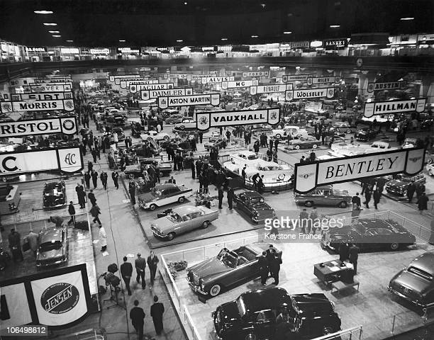 London Earls Court Preview Of The Motor Show in 1961