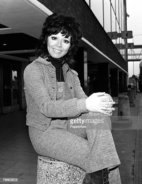 London England 10th February 1971 British pop singer Susan Maughan is pictured at Heathrow Airport prior to leaving for a singing engagement in...