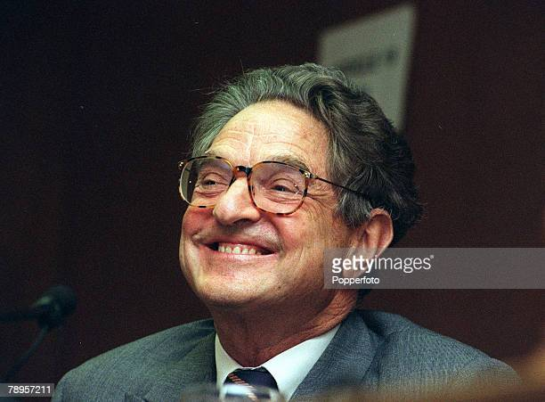 London England 10th June 1994 Hungarian born financier George Soros pictured at a London conference