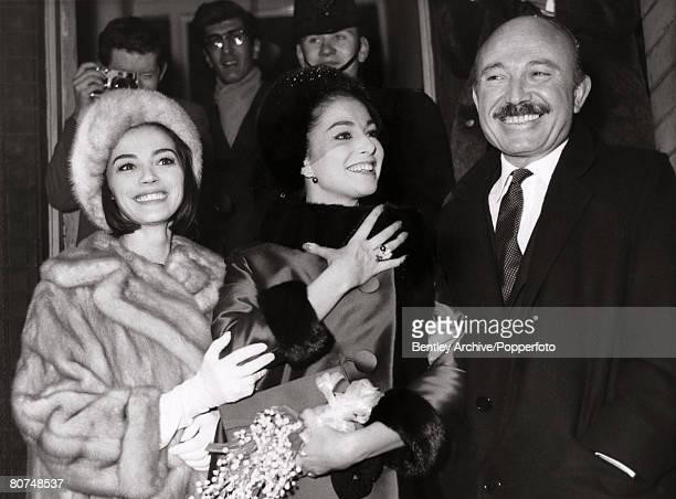 London England 14th February 1962 Italian actress Pier Angeli 29 and 45 year old Italian conductor Armando Trovajola were married at Kensington...