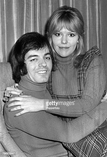 London, England, 14th January 1972, Radio One Disc Jockey Tony Blackburn with 23 year old Tessa Wyatt after announcing their engagement