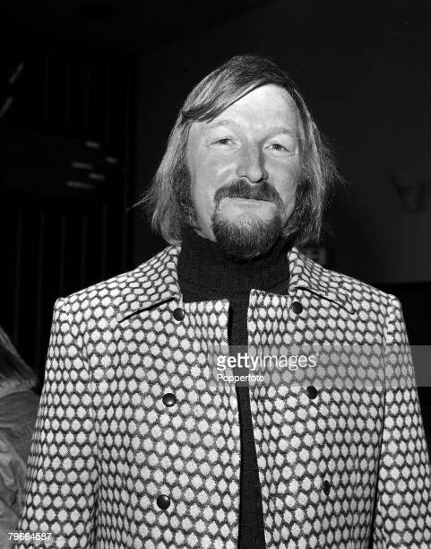 London England 14th October 1971 Portrait of James Last the multi million selling German recording star upon his arrival at Heathrow airport for a...
