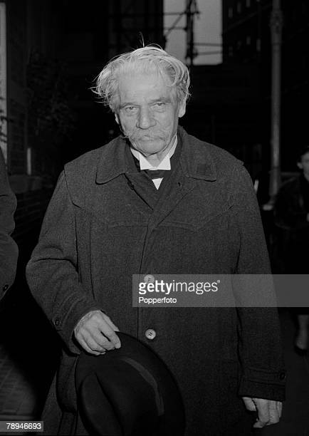 London England 18th October 1955 Dr Albert Schweitzer pictured prior to receiving an Order of Merit from The Queen