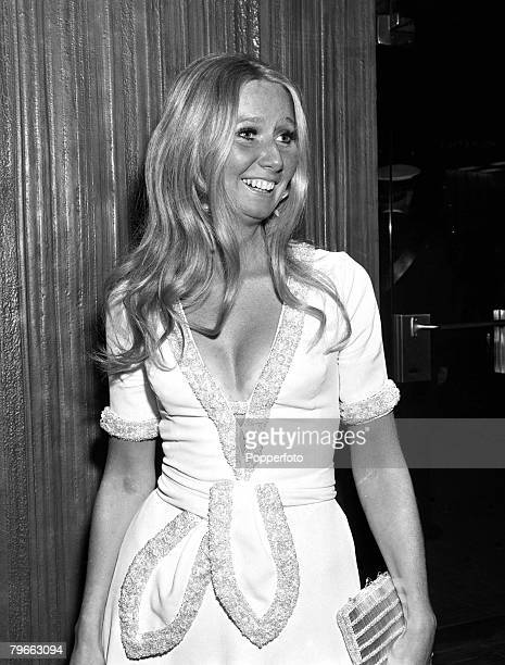 London England 1st October 1970 Irish singer Clodagh Rodgers pictured at a London film premiere