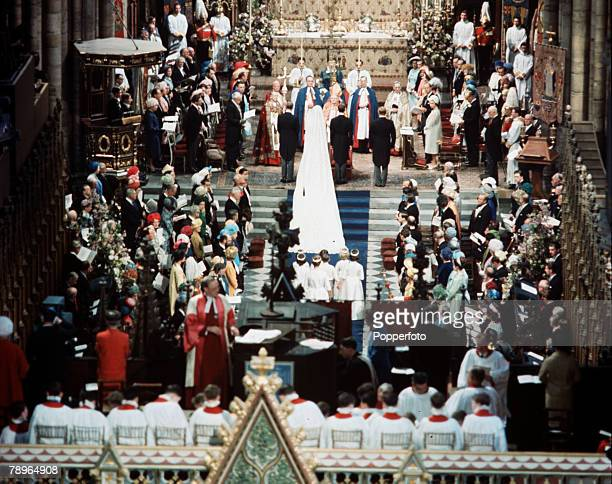 London England 24th April 1963 The wedding of Princess Alexandra and Angus Ogilvy A general scene of the ceremony inside Westminster Abbey