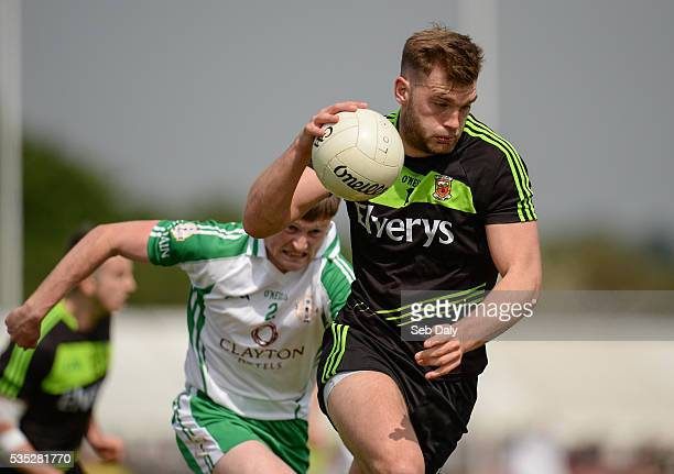 London England 29 May 2016 Aidan OShea of Mayo in action against Philip Butler of London during the Connacht GAA Football Senior Championship...