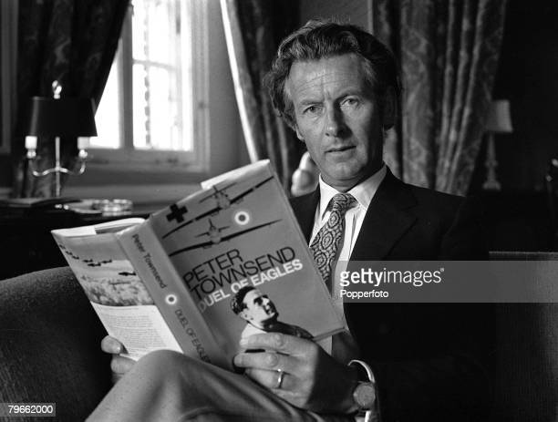 London, England, 3rd September 1970, Group Captain Peter Townsend, ex-boyfriend of Princess Margaret, is pictured at the London launch of his book...