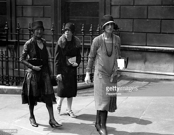 London England 4th May The countess of Oxford and Asquith with friends arriving at Burlington House for the Private View exhibition at the Royal...