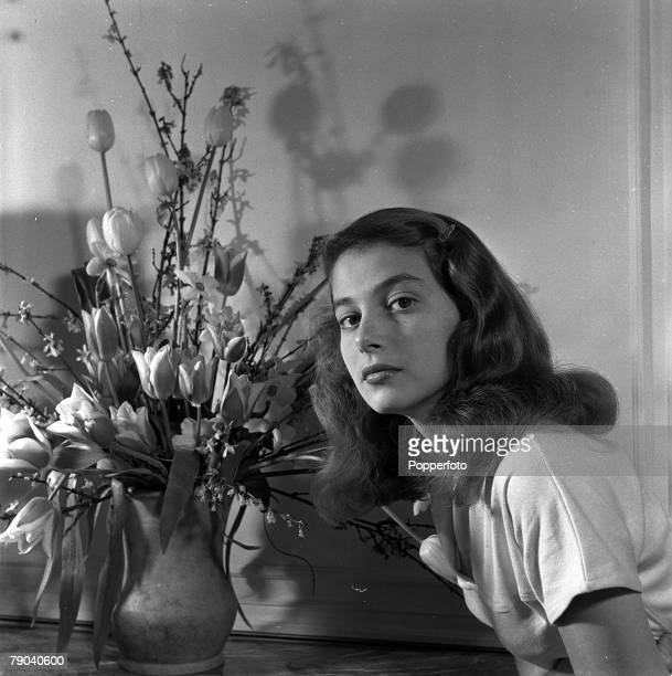 London England A portrait of Italian actress Pier Angeli at the Savoy Hotel