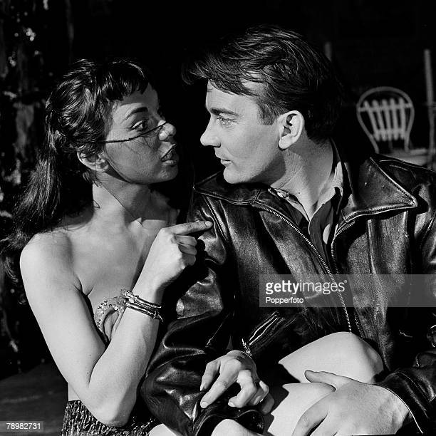 London England Actors Denholm Elliot and Elizabeth Seal in the play Camino Real by Tennessee Williams